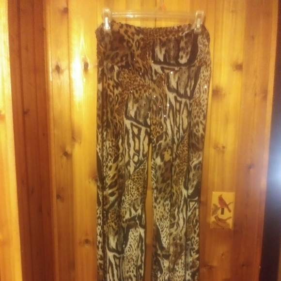 Touch Express Other - *Touch Express Animal Print Sequin Pants